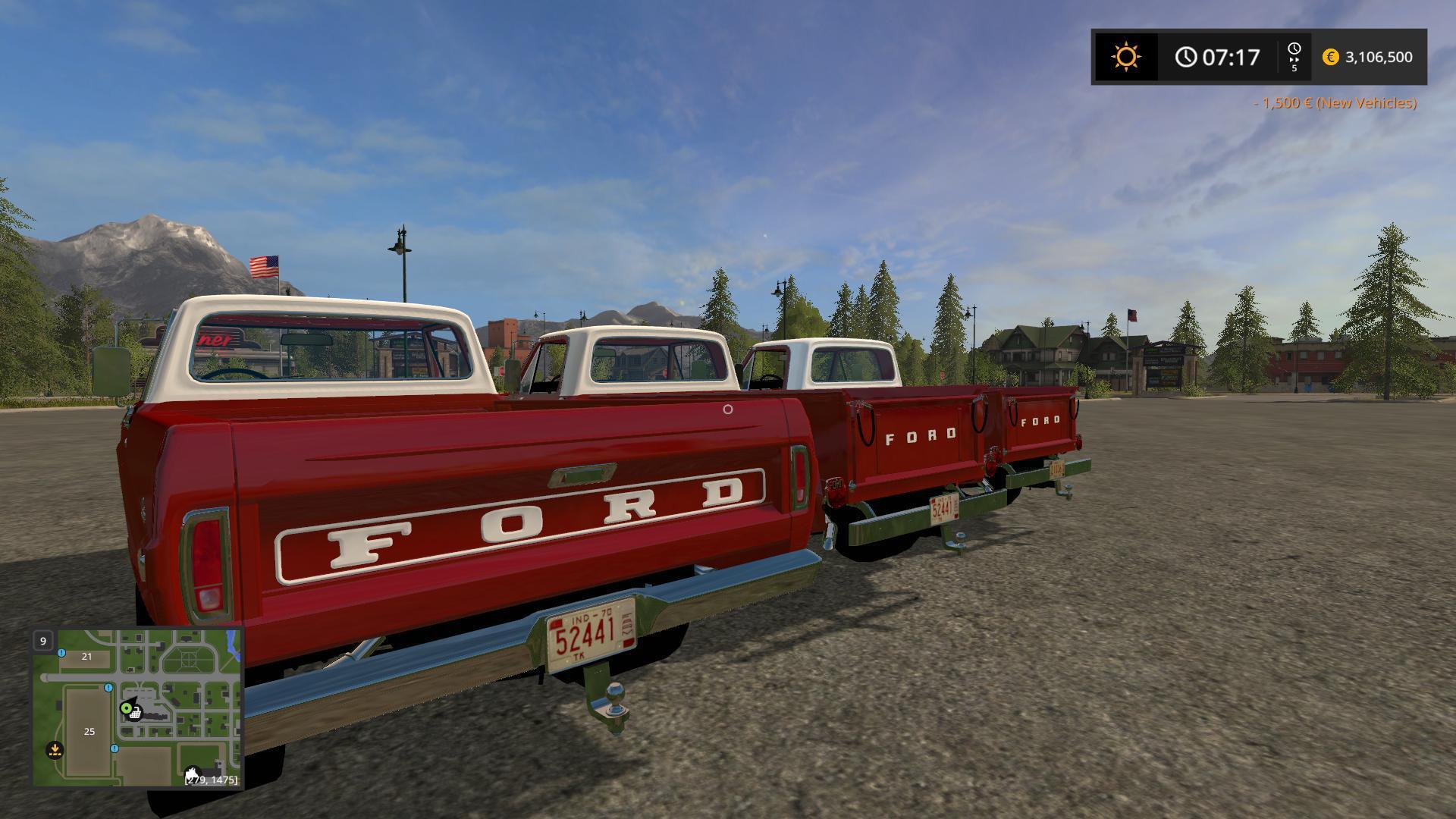 1970 Ford F 100 Triple Pack V10 Fs17 Farming Simulator 17 Mod F100 Stepside