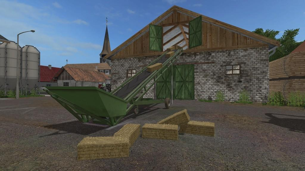 BALES AND WOOD CONVEYOR BELT V1 0 0 0 FS17 - Farming Simulator 17