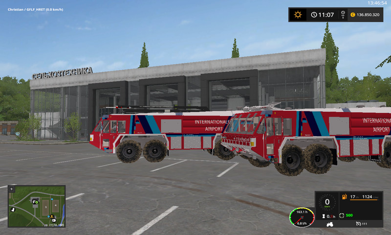 Two airfield fire engines V 1 0 0 0 1 FS17 - Farming