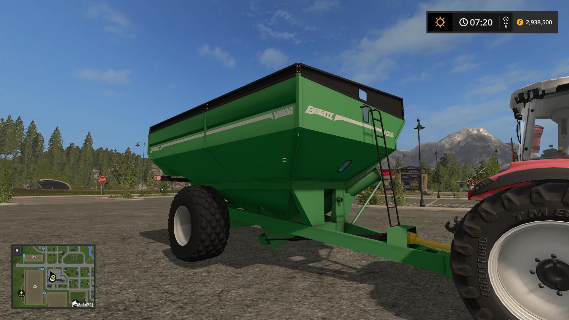 Brent V800 Grain Cart V1 0 Fs17 Farming Simulator 17 Mod