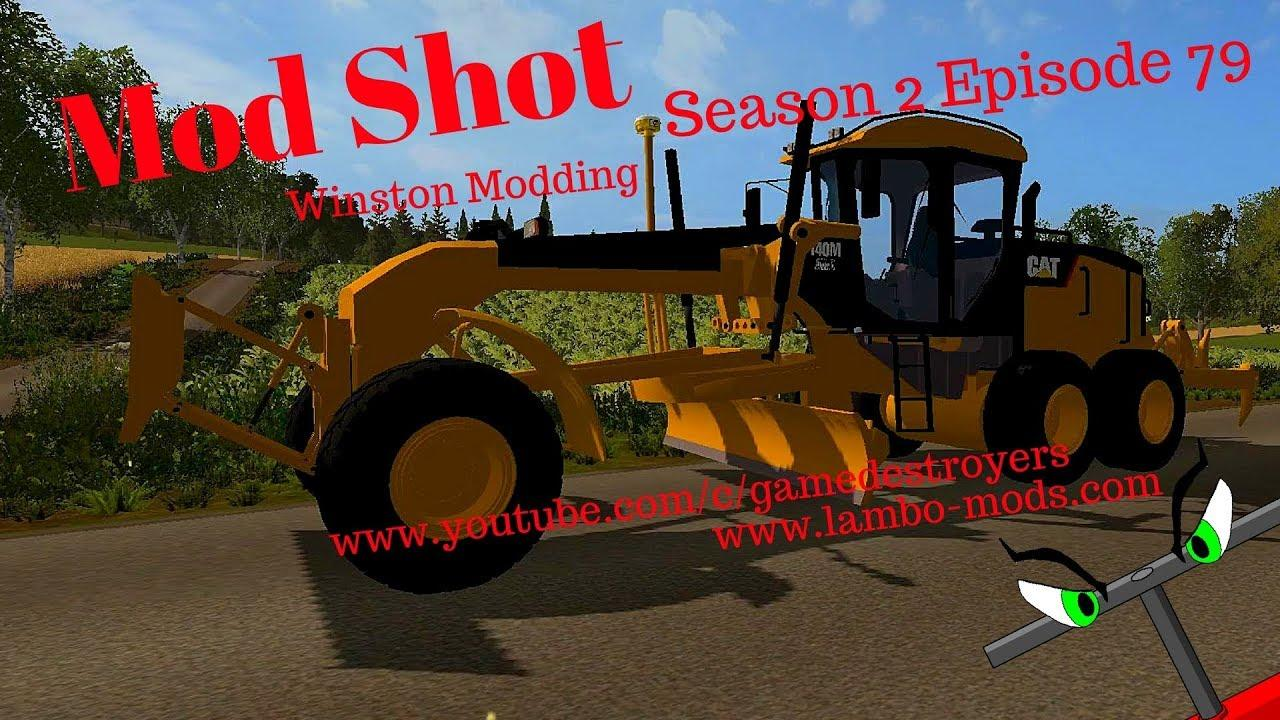 CAT 140M ROAD GRADER BY WINSTON MODDING FS17 - Farming
