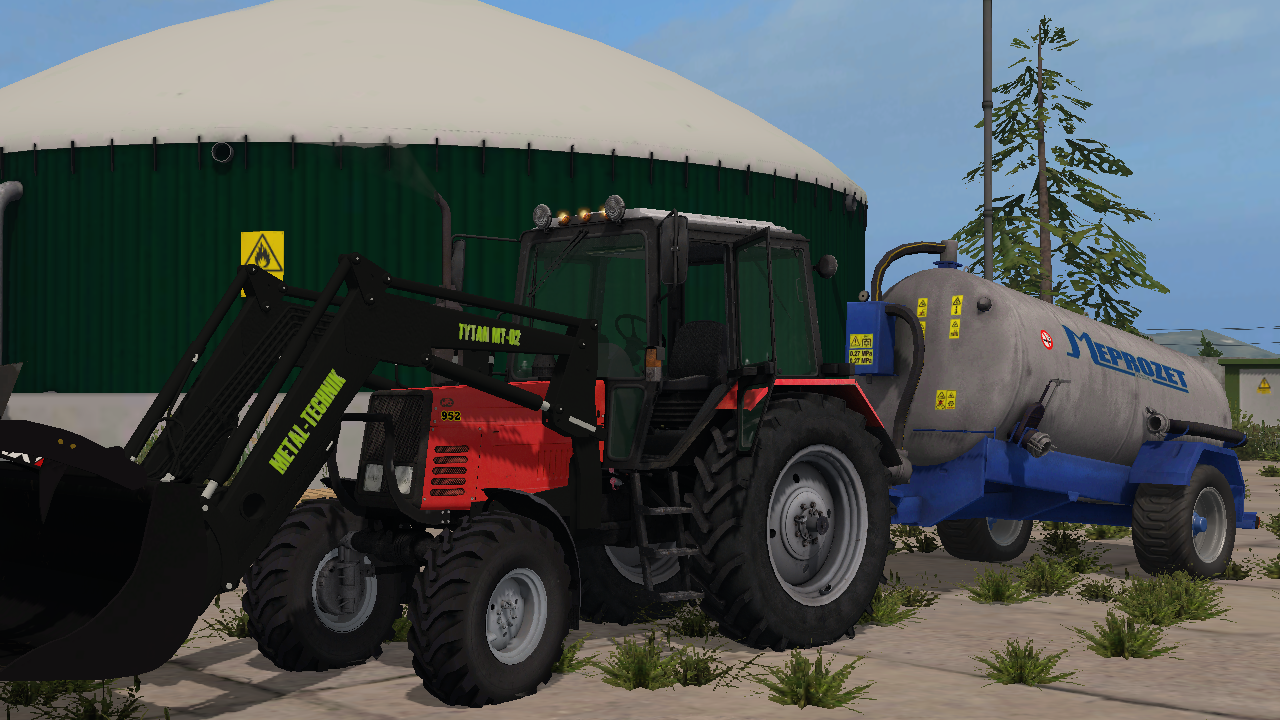 BELARUS 952 WITH METAL TECHNIK FRONTLOADER FS17