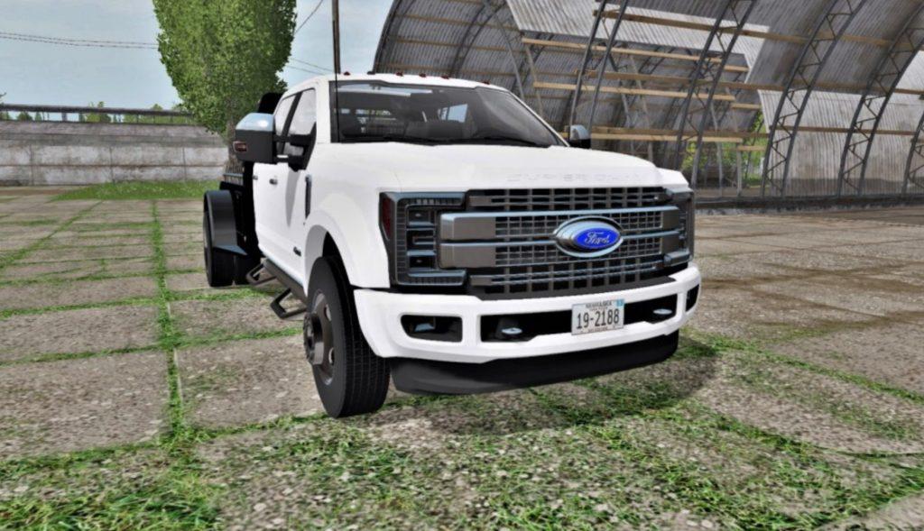 Ford F-450 Super Duty flatbed FS17 - Farming Simulator 17 mod / FS 2017 mod