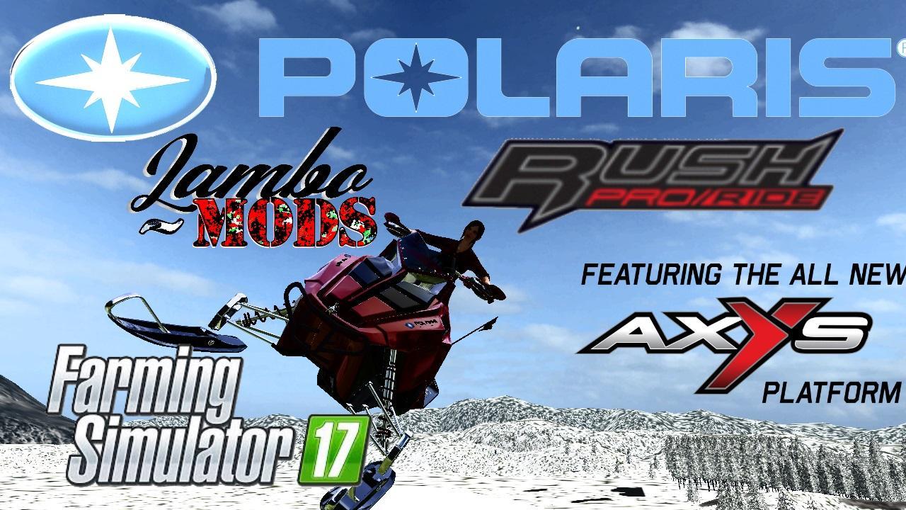 POLARIS RUSH SNOWMOBILE V1 0 FS17 - Farming Simulator 17 mod / FS