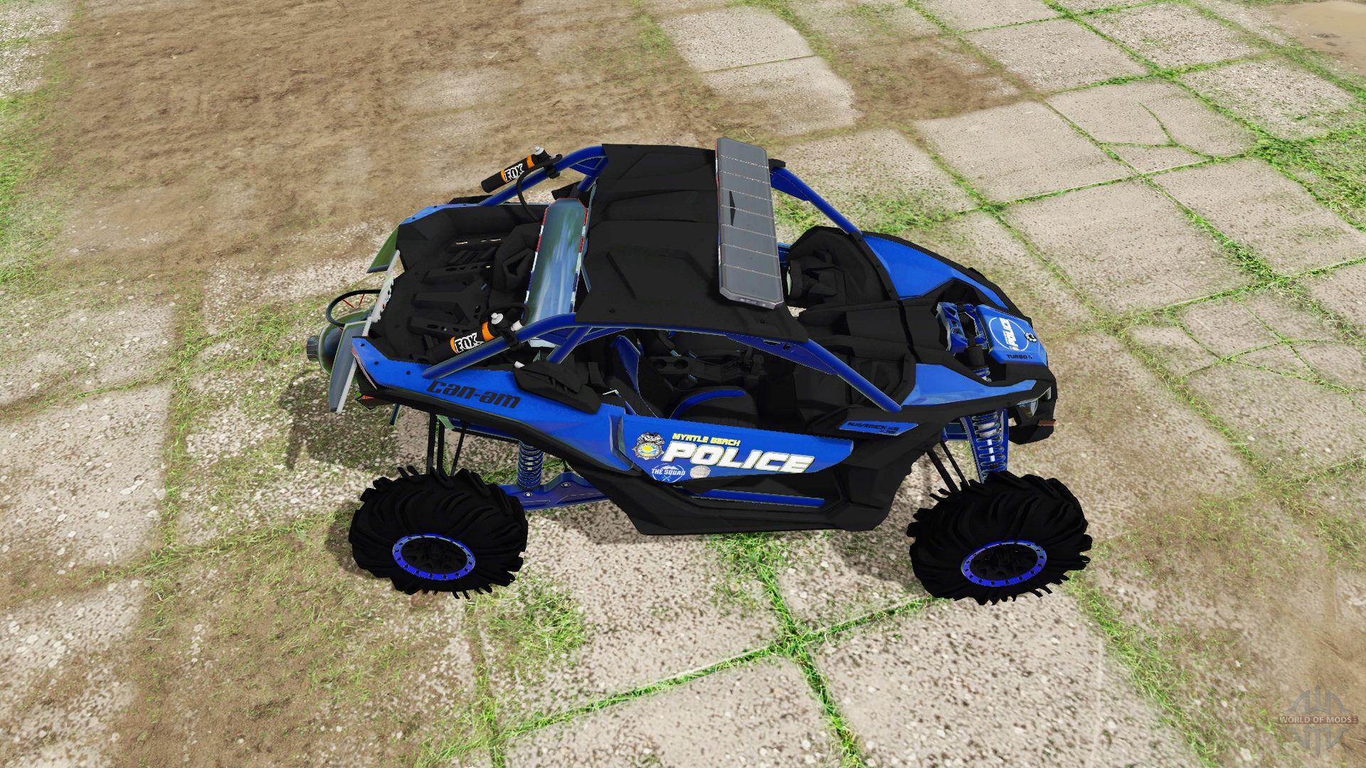 Can-Am Maverick X3 police v1 0 FS17 - Farming Simulator 17