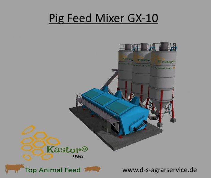 Pig Feed Mixer GX-10 By Kastor INC  v1 0 FS17 - Farming Simulator 17