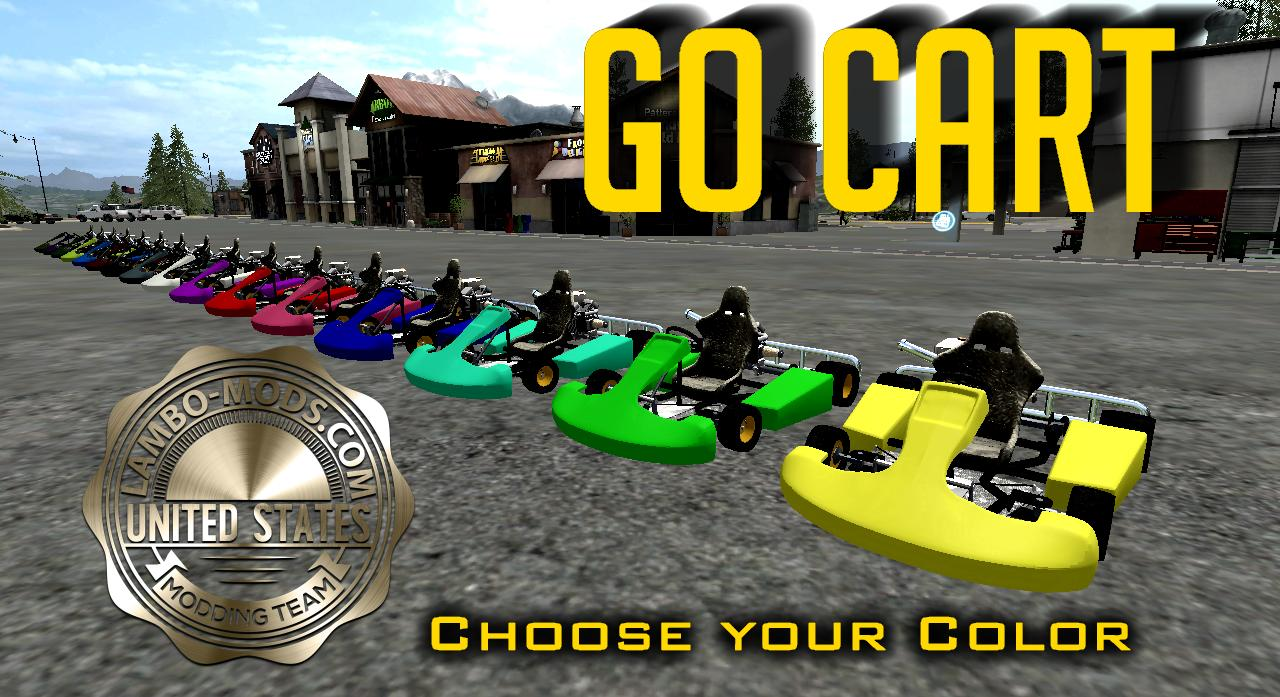 Go Cart Multi Color v2 0 FS17 - Farming Simulator 17 mod / FS 2017 mod