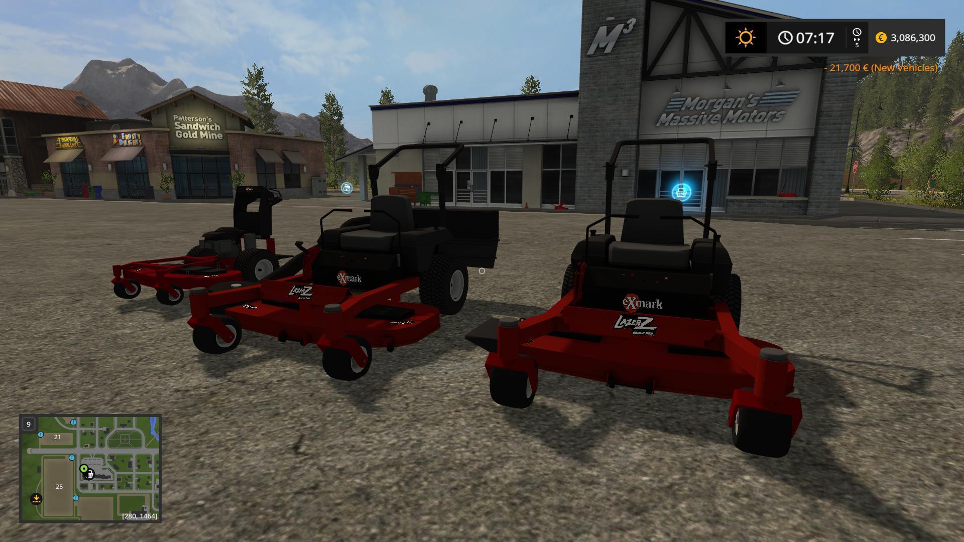 Mower Pack With New Zero Turn v1 0 FS17 - Farming Simulator
