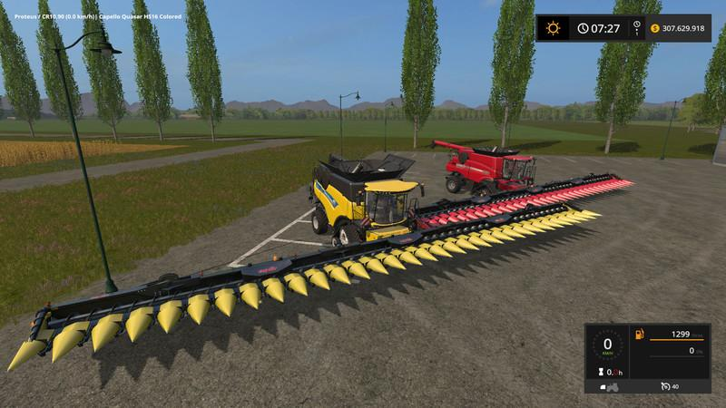 Capello Hs30b maize Header v3 0 FS17 - Farming Simulator 17