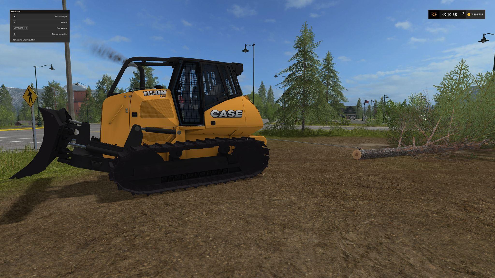 CASE 1150M Forestry v1 0 0 0 FS17 - Farming Simulator 17 mod