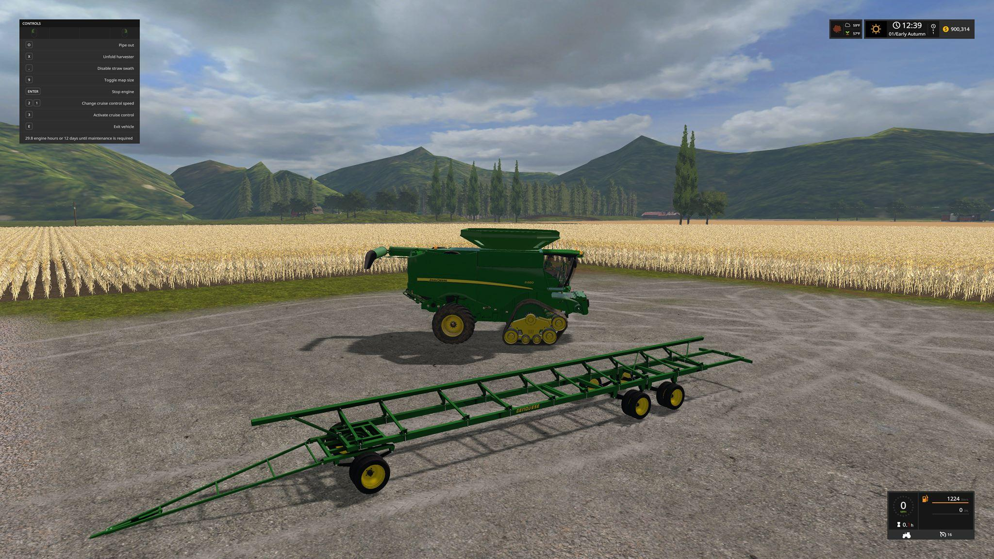 John Deere S680 Pack v1 0 FS17 - Farming Simulator 17 mod / FS 2017 mod