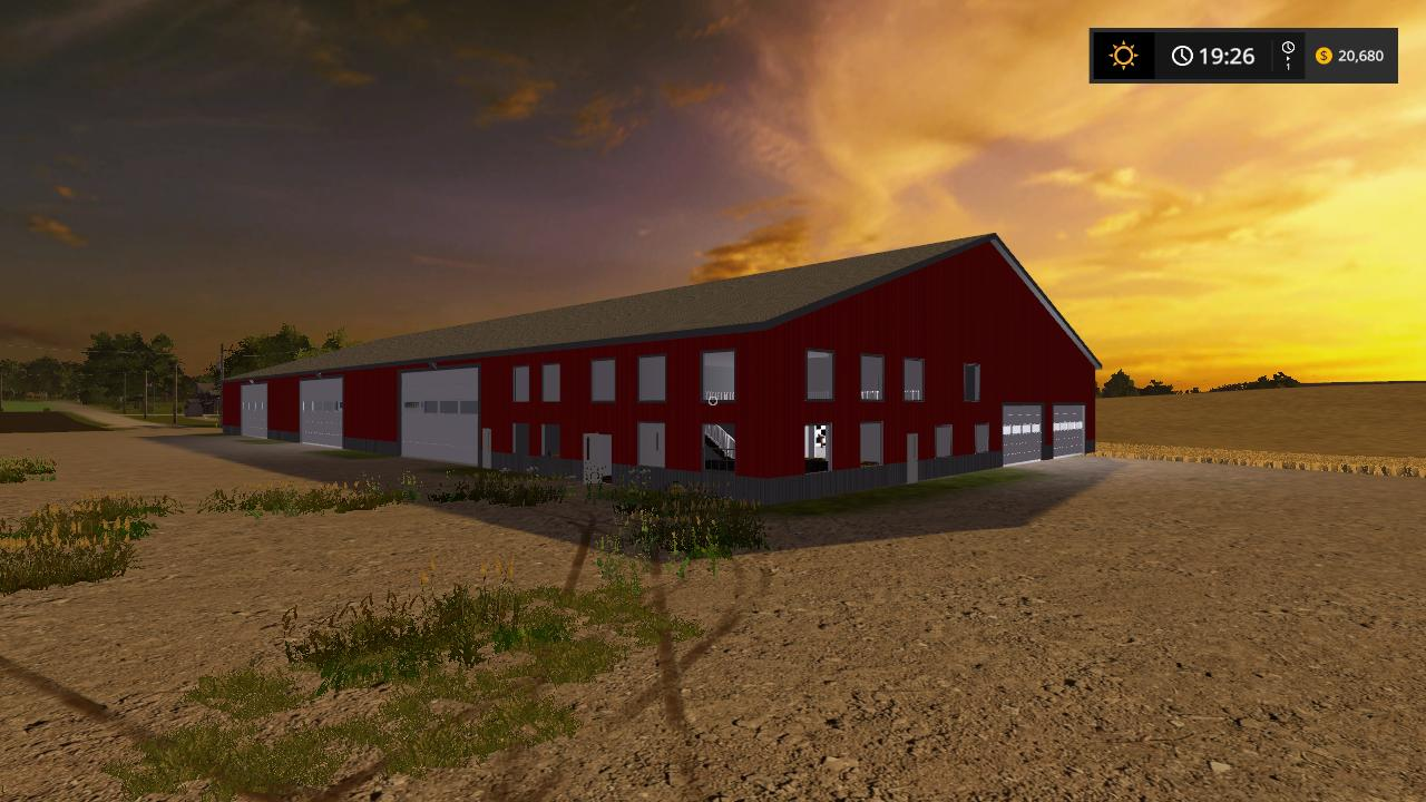 Morton building with living quarters v1 0 FS17 - Farming