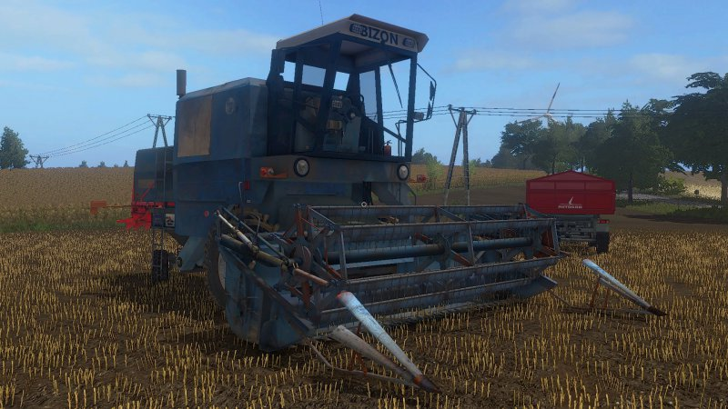 Bizon Z056 Niebieski FS17 - Farming Simulator 2017 mod, FS