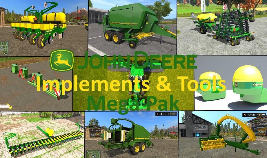 JD implements & tools Mega Pack v1 0 FS17 - Farming