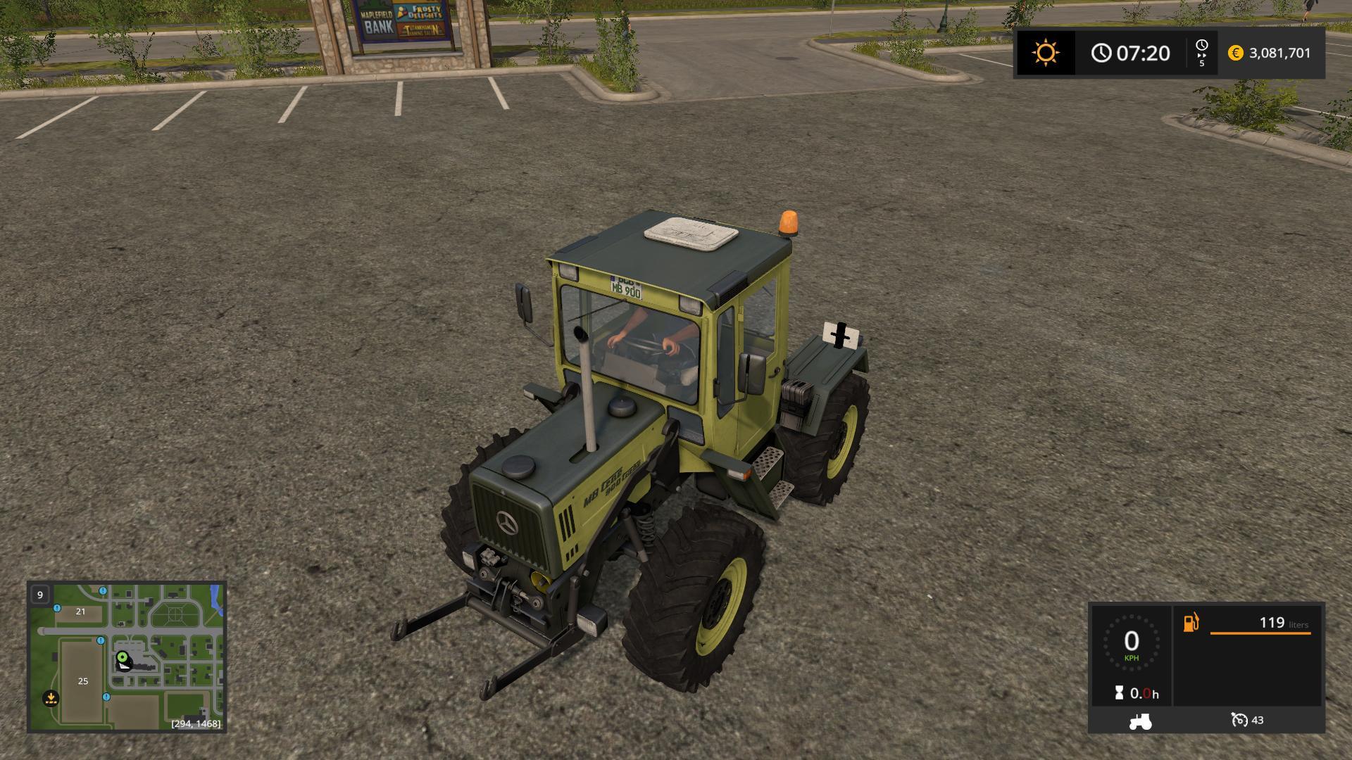 MB Trac 900 Turbo Forst Vision v1 0 FS17 - Farming Simulator 17 mod