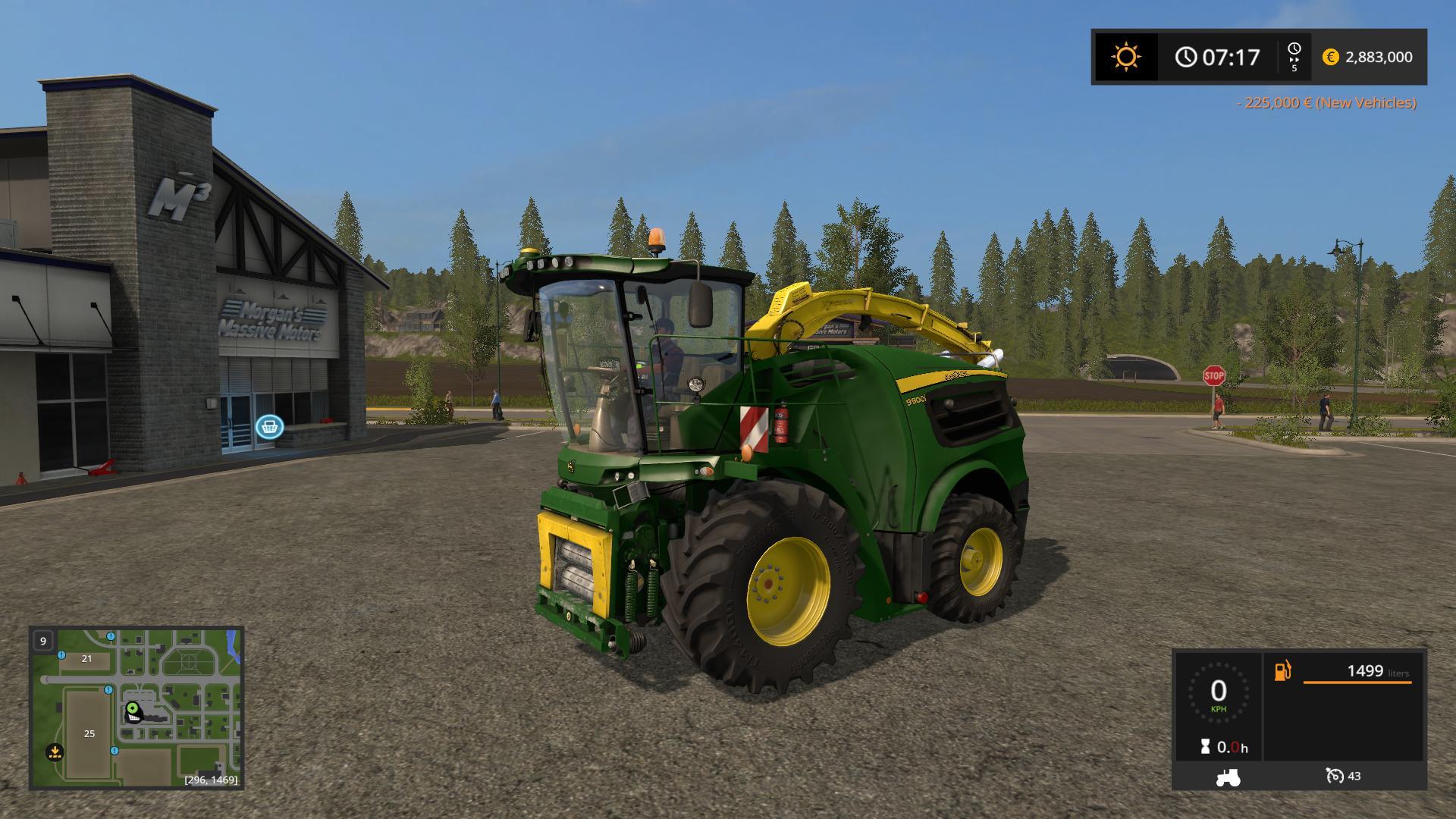 John Deere 9000 v1 0 FS17 - Farming Simulator 17 mod / FS