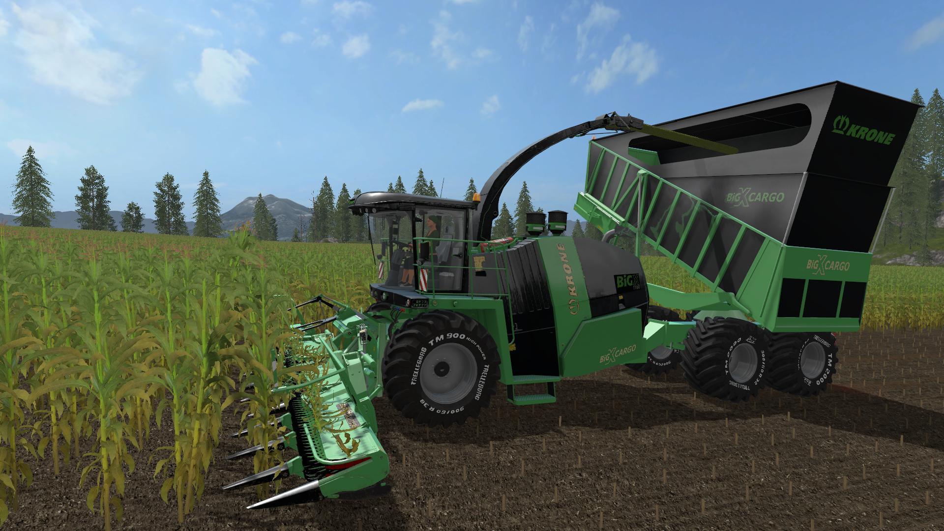Krone Big X Cargo E v3 0 FS17 - Farming Simulator 17 mod