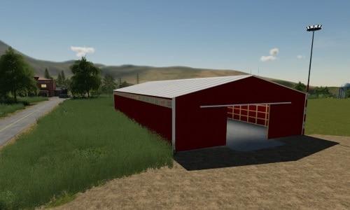 FS19 72X150 Red Storage shed prefab V 1 0 0 - Farming