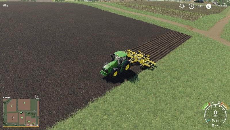 FS19 AgrisemCultiplow with plow 8m V 1 0 - Farming Simulator 17 mod