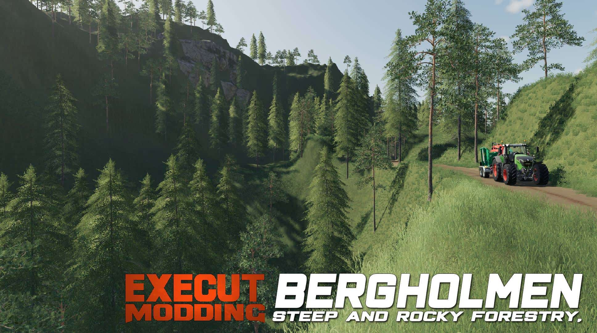 FS19 Bergholmen Hardcore Forestry - Farming Simulator 17 mod