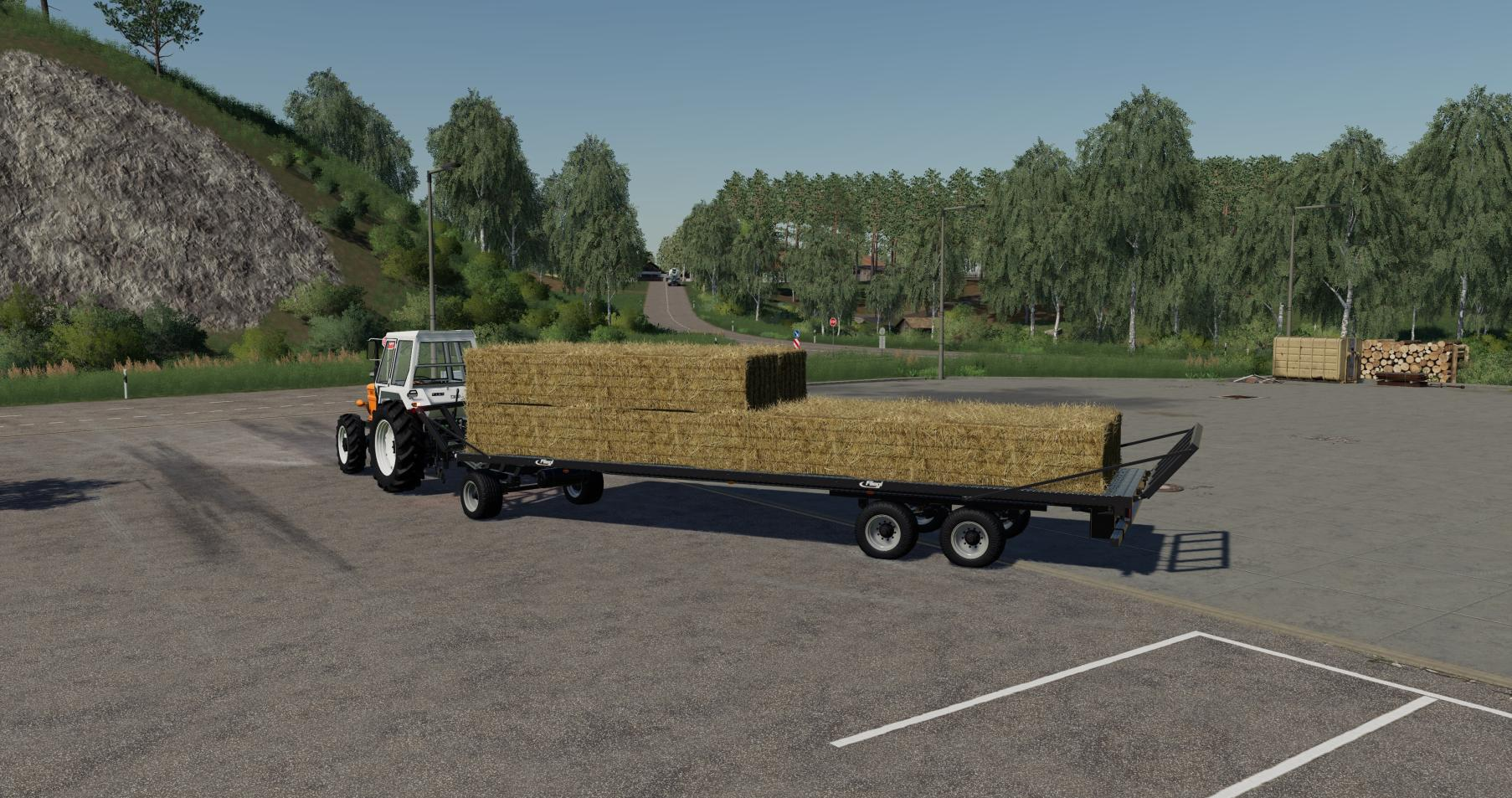 FS19 Fliegl DPW 180 AutoLoad for squarebales - Farming Simulator 17