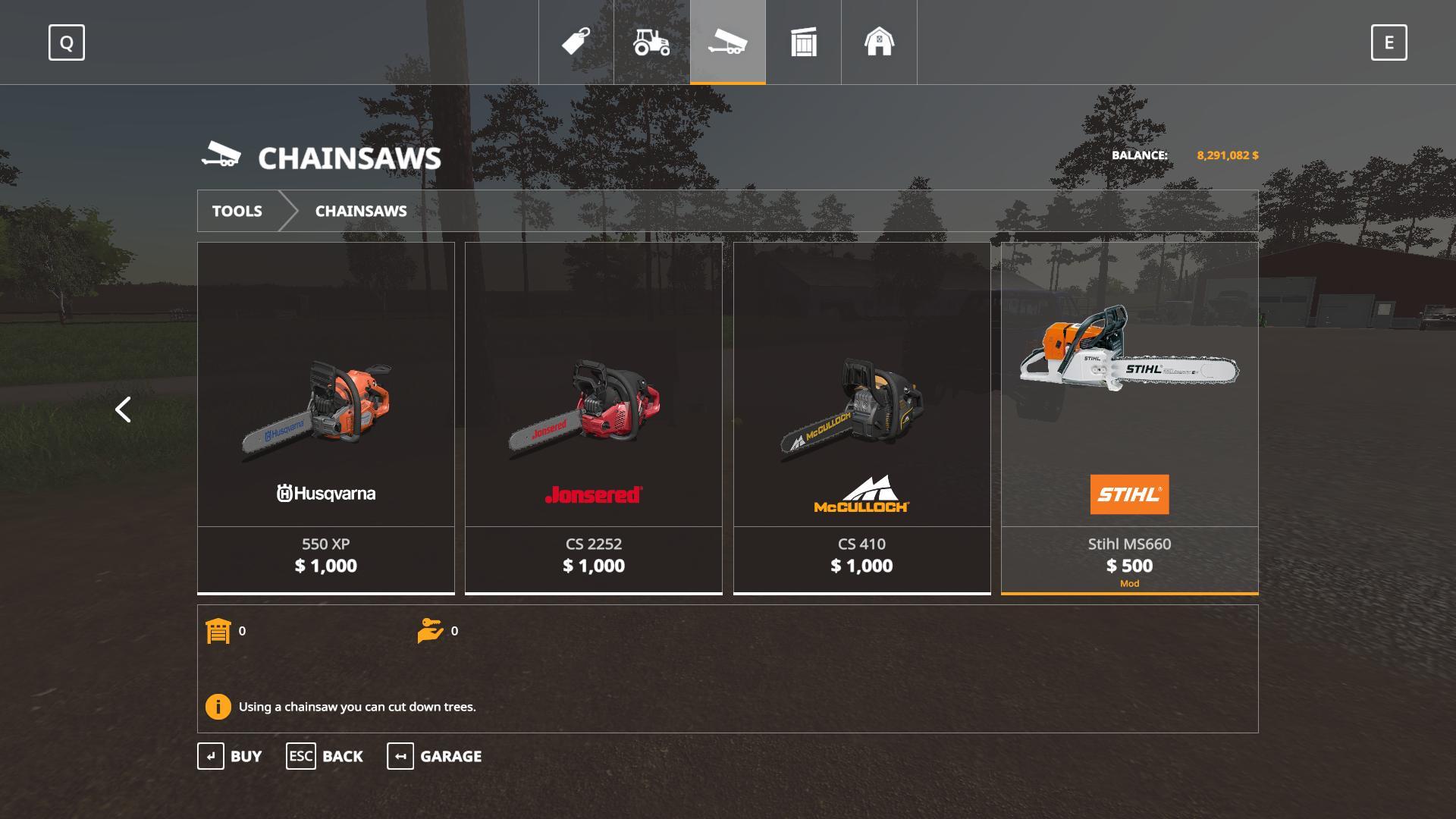 FS19 Stihl MS660 Chainsaw v1 0 - Farming Simulator 17 mod