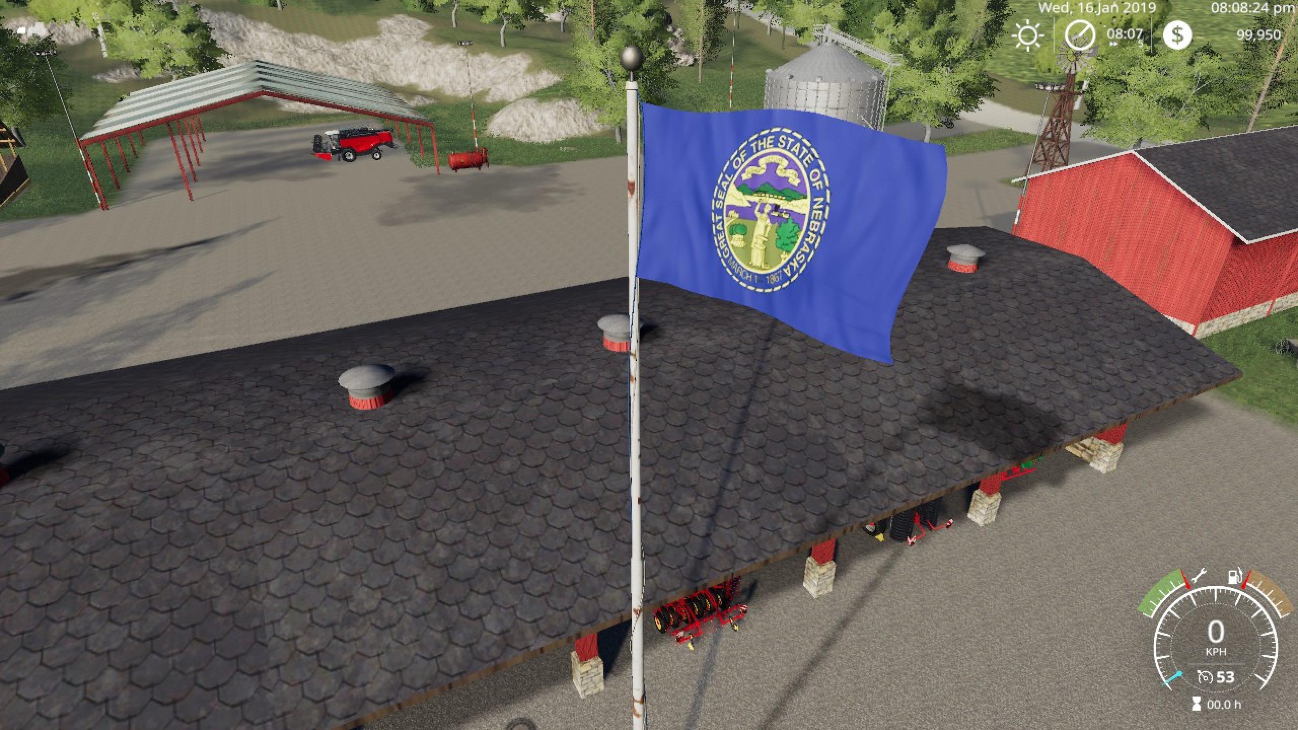 FS19 Nebraska Flag v1 0 0 0 - Farming Simulator 17 mod / FS