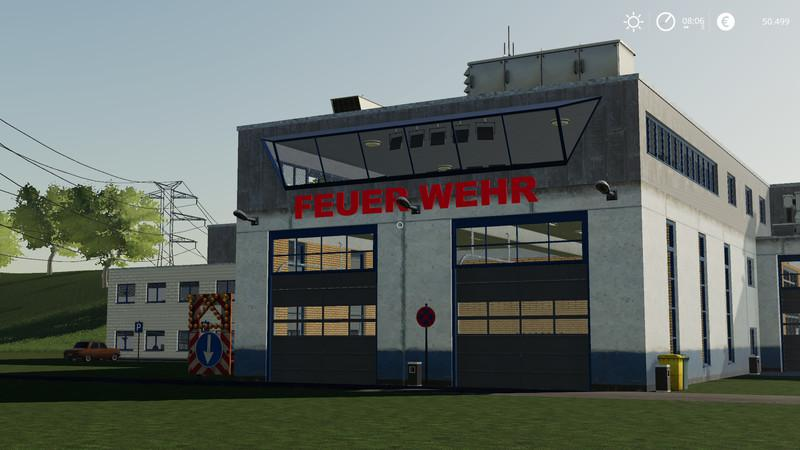 FS19 Fire station completely new construction v1 0 - Farming