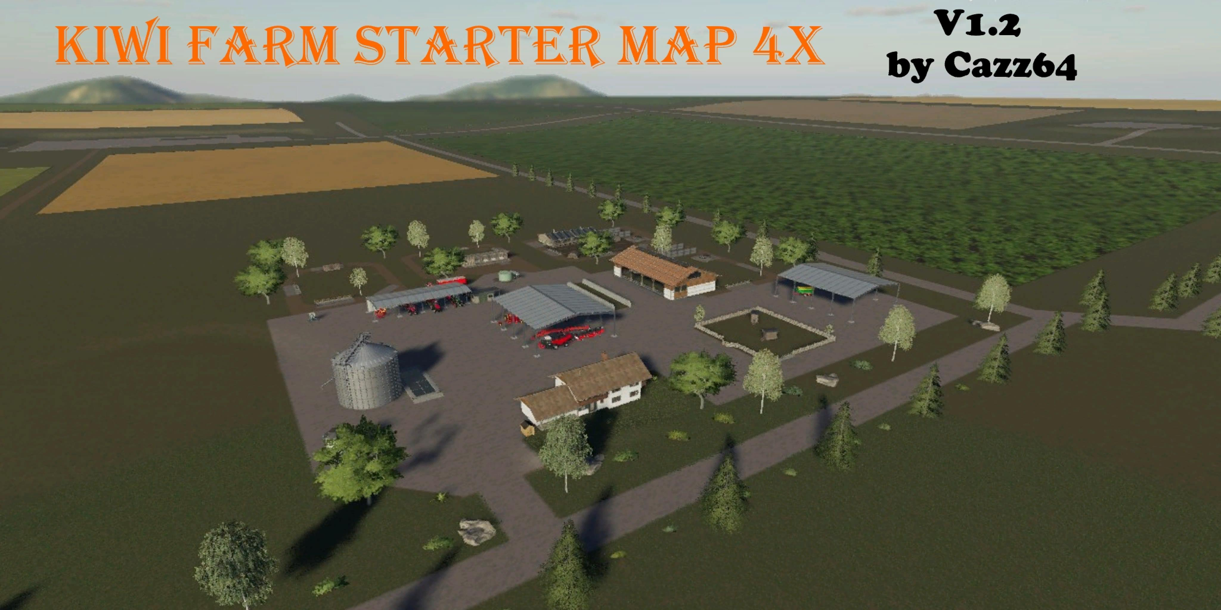 FS19 KIWI FARM STARTER MAP 4X v1 2 - Farming Simulator 17