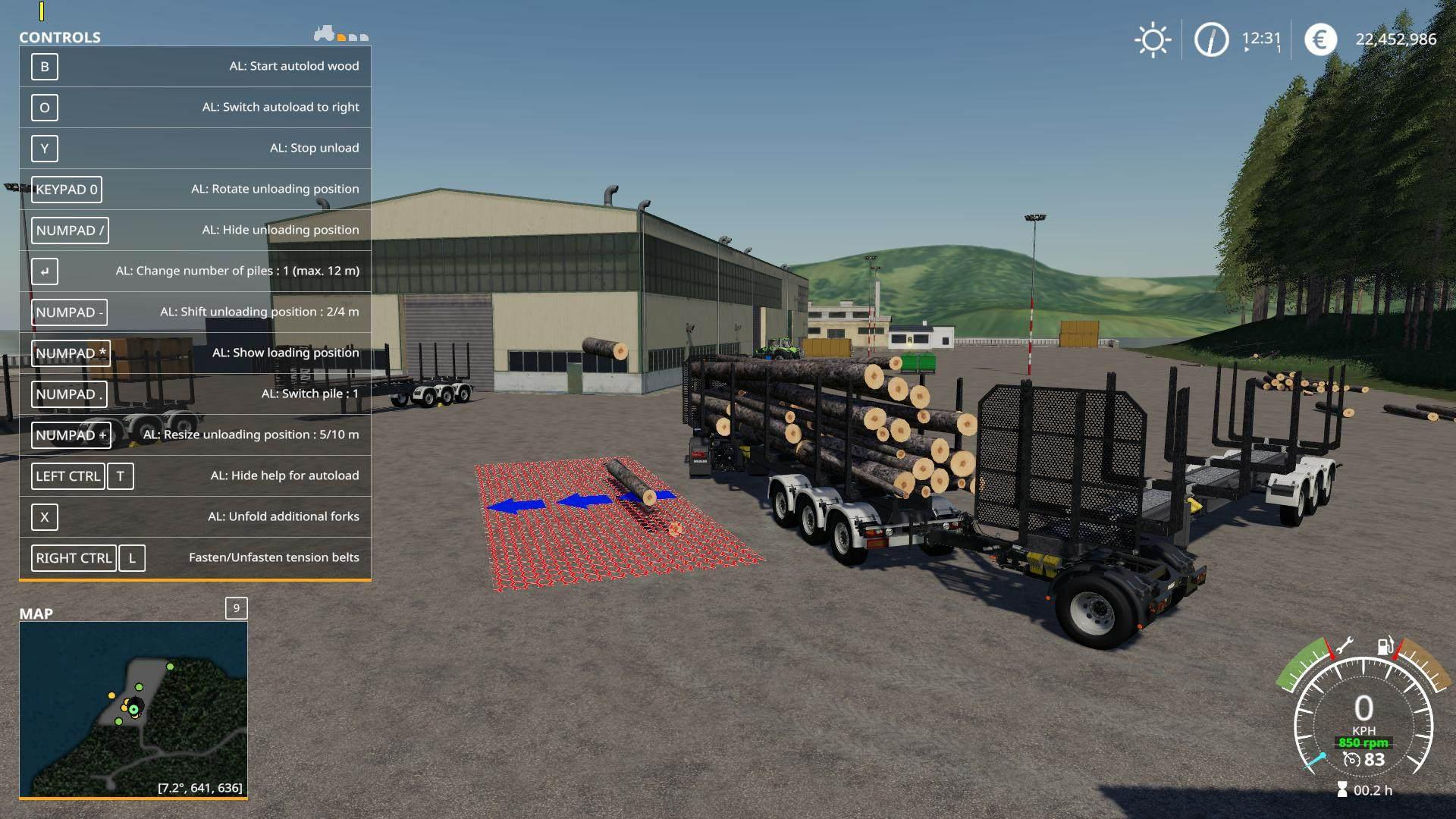 FS19 Timber Runner Wide With Autoload Wood v1 2 - Farming