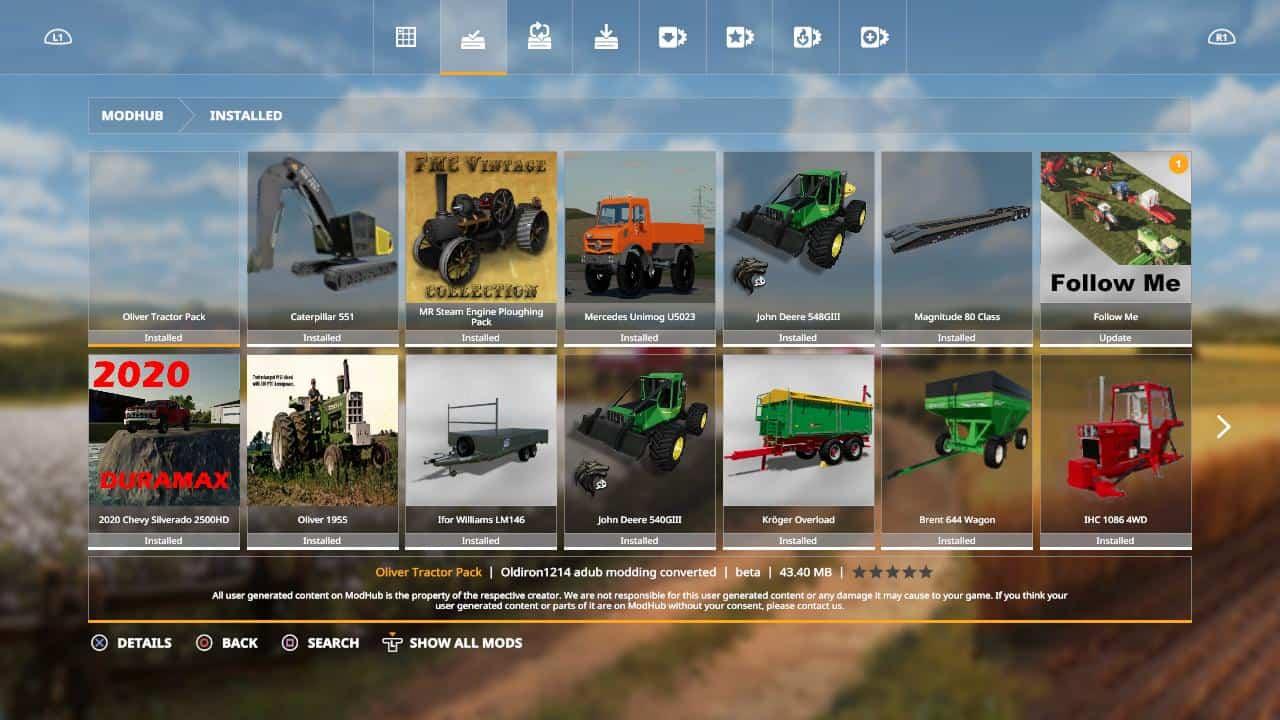 FS19 Oliver tractor pack beta - Farming Simulator 17 mod
