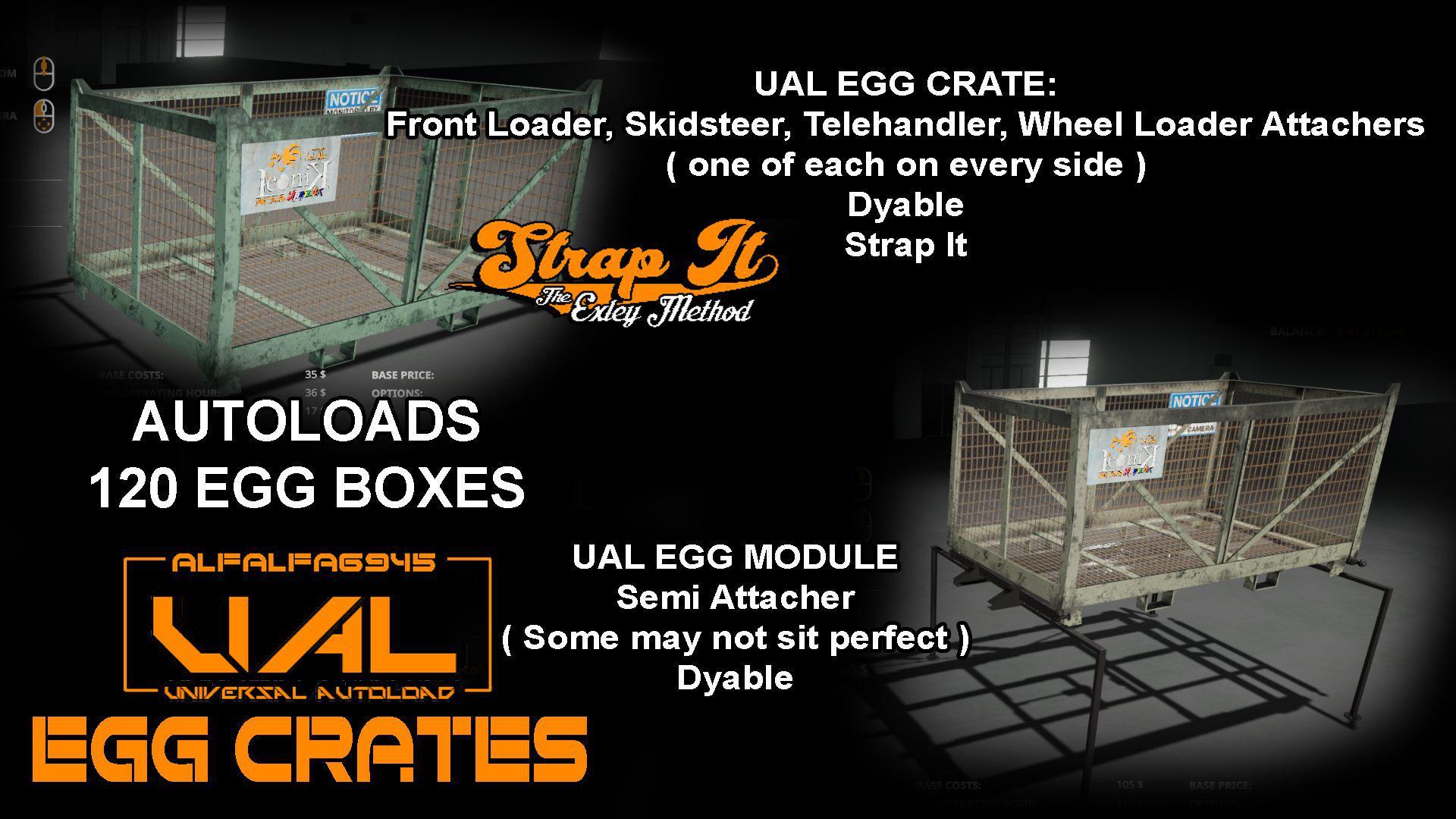 FS19 Iconik UAL Egg Crates v1 0 - Farming Simulator 17 mod / FS 2017 mod