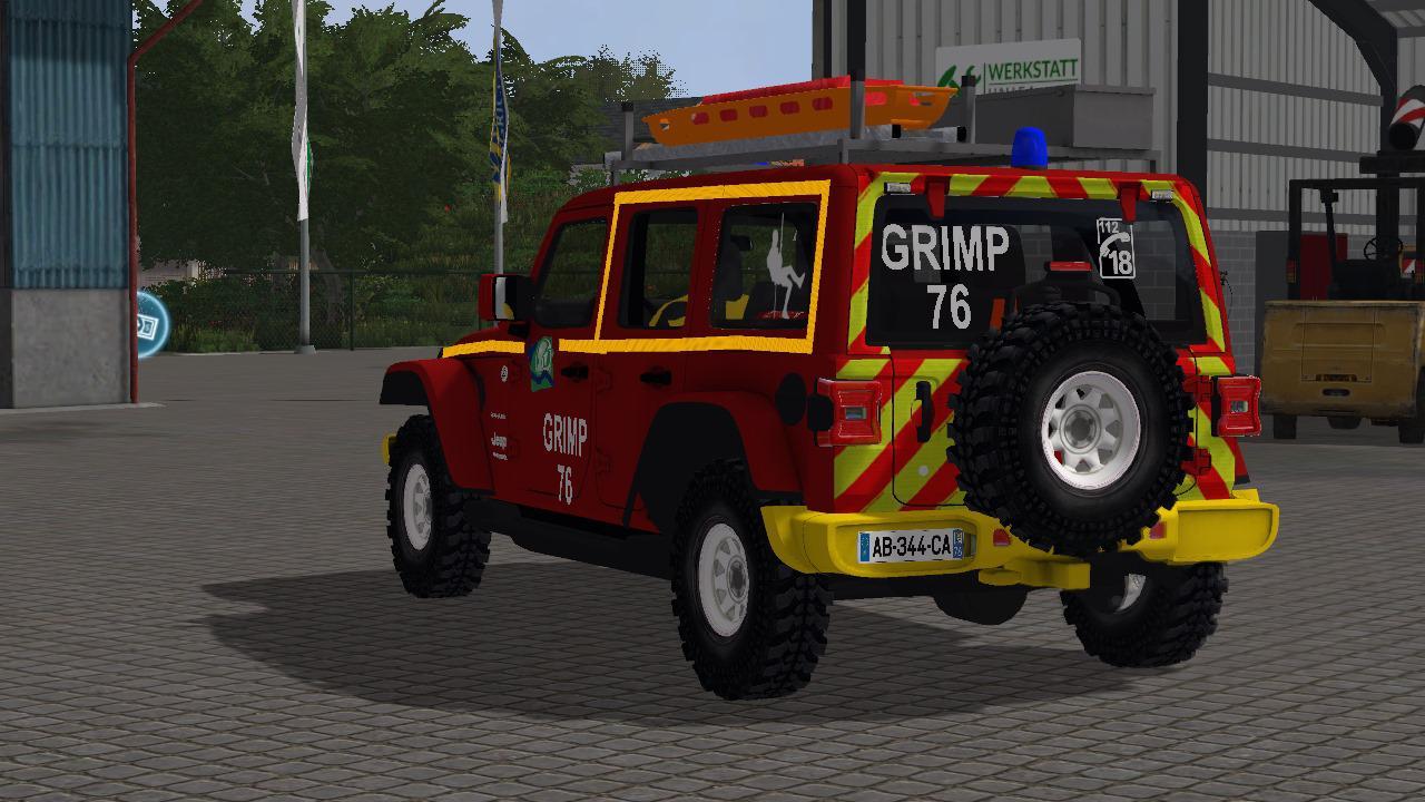 Jeep Wrangler Pompier v1 0 FS17 - Farming Simulator 17 mod