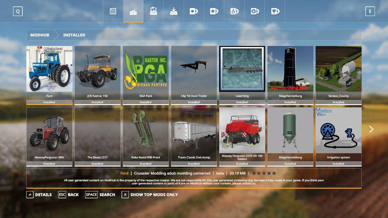 FS19 Ford 9600 cabbed beta - Farming Simulator 17 mod / FS