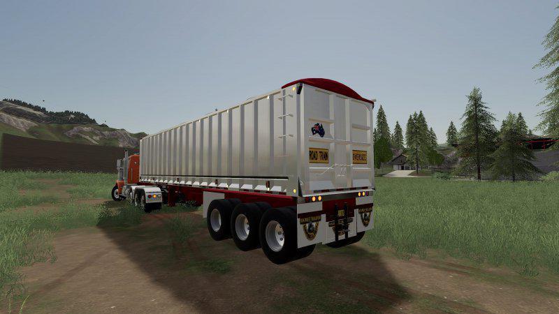 FS19 6 Axle Dump Trailer v1 1 - Farming Simulator 17 mod