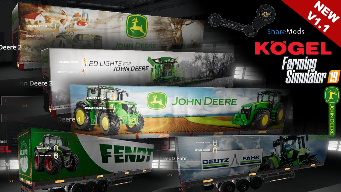 FS19 MEGA KOGEL TRAILERS PACK v1 1 - Farming Simulator 17